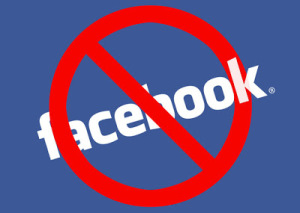 """facebook with a """"do not"""" icon above it"""