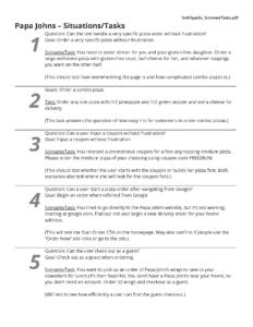 Task Scenario Page 1